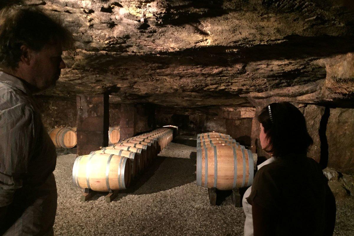 In de ondergrondse kelders van Lamothe