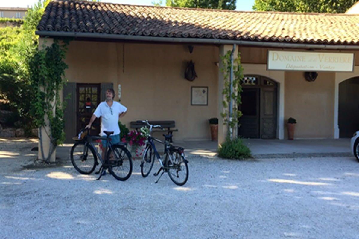 Op de fiets bij Domain de la Verriere