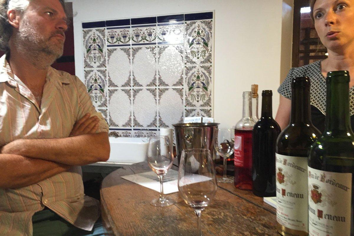 Wijnproeven bij Chateau Peneau