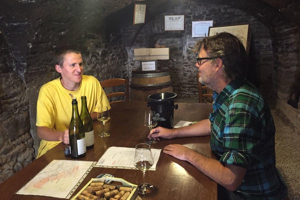 wijnproeven bij Justin Girardin